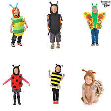boys girls childrens honey bumble bee tabard fancy dress costume