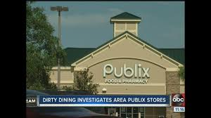 dirty dining 7 publix super markets failed inspections due to