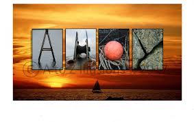 canvas prints ahoy alphabet photography and letter art