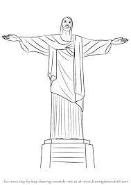 learn how to draw christ the redeemer wonders of the world step