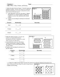 mass volume and density 6th 10th grade worksheet lesson planet