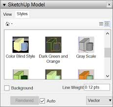 sketchup layout line color editing a sketchup model s view and style settings in layout