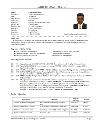 Experience Resume For Mechanical Engineer Sathishkumar Mechanical Engineer 2016