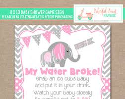 my water baby shower elephant cube etsy