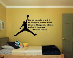Basketball Room Decor Michael Quote Etsy