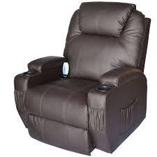recliners that do not look like recliners amazon com homcom massage heated pu leather 360 degree swivel
