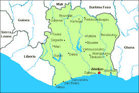 map of abidjan airports in ivory coast