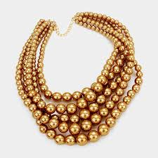 multi pearl necklace images Women 39 s multi layered statement pearl necklace set sabatues llc jpg