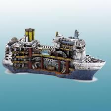 buy penn plax cruise ship fish tank ornament best