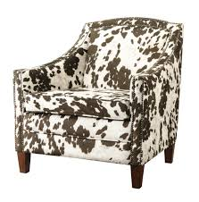brown u0026 white cow print accent chair caravana furniture