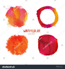 abstract bright orange splash ink red stock vector 568465819