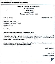 Semi Block Letter Format Business Letter Block Form Of Business Letters Cover Letter Templates