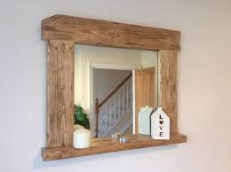 Wooden Bathroom Mirrors How To Make Reclaimed Wood Bathroom Mirror Frame Top Bathroom