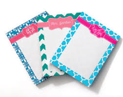 personalized notepad etsy