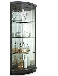 glass corner curio cabinet black corner curio cabinet with lighting modern terrific light
