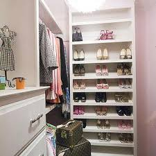 Shelves For Shoes by Gray Modular Closet System With Tilted Shelves For Shoes