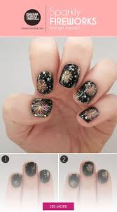 thanksgiving nail art tutorial best 25 firework nails ideas only on pinterest firework nail