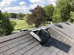 recent job replacing old attic fan with a new srs solar attic fan