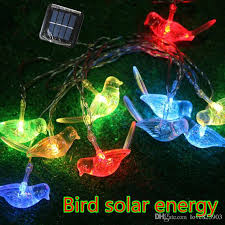 small solar lights outdoor 2 5m 10led bird solar lights animals led small night l