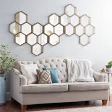katy metal hexagons mirror metals decorative mirrors and living