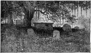 romantic and atmospheric graveyard