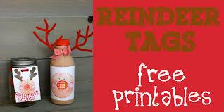 reindeer tags free printable design dazzle