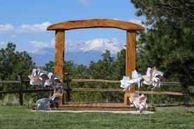 wedding arch log the black forest lodge colorado springs co wedding venue