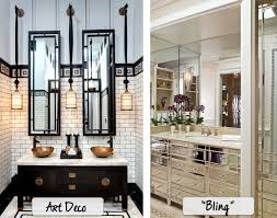 cool inspiration art deco style bathroom mirrors mirror home