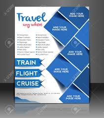 travel center flyer u0026 poster design template royalty free cliparts