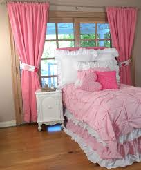 Girly Window Curtains by Bedroom Multifunction Bed Design Covered With Purple Bedding And