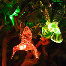 color changing solar string lights 10 color changing led hummingbird solar outdoor garden patio