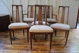 mid century drexel triune danish modern dining chairs set 6
