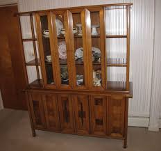 sophisticate by tomlinson mid century hutch china cabinet 72