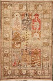 Silk Turkish Rugs 70002521 Antique Turkish Silk Hereke Hunting Carpet 6 U2032 X 4 U2032