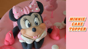 How To Make Minnie Cake Topper Fondant Torta Pasta Di Zucchero