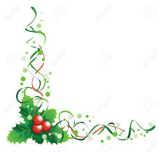 christmas holly corner royalty free cliparts vectors and stock