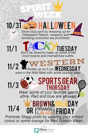 spirit halloween online spirit week november 2016 u2013 stagg online