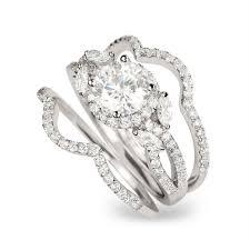 engagement rings for women 3 20ct halo round cut 3pcs wedding set engagement ring wedding