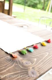 make your own table runner diy tassel table runner homemade ginger