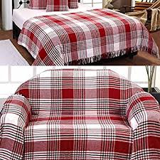 extra large cotton sofa throws homescapes extra large grey u0026 red tartan throw 100 x 140 inches or