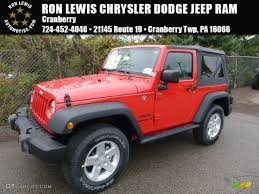 jeep red 2017 2017 firecracker red jeep wrangler sport 4x4 116076177 gtcarlot