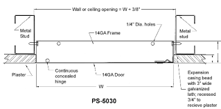 Ceiling Access Doors by Acudor Ps5030 Flush Plaster Access Door Access Panel