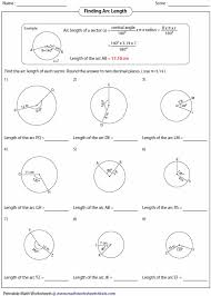 Area Of Sector Worksheet Circles Unit Lessons Tes Teach