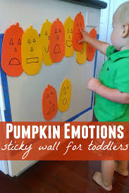 halloween activities for toddlers toddler approved pumpkin emotions sticky wall