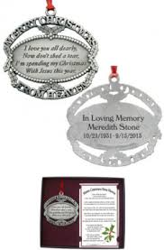 personalized merry from heaven ornament memorial