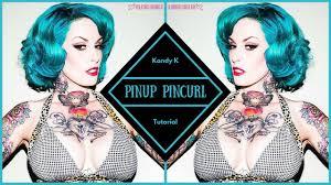 retro pinup short hair pin curl tutorial youtube