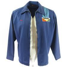 corvette racing jacket vintage 60s corvette racing jacket mens l gabardine blue usa made