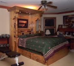 unique wooden bed frame with oversized headboard decofurnish