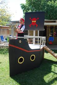 pirate party white pirate ship for my sons pirate party diy projects
