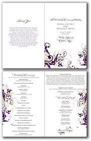 Template For Wedding Program 7 Best Wedding Programs Images On Pinterest